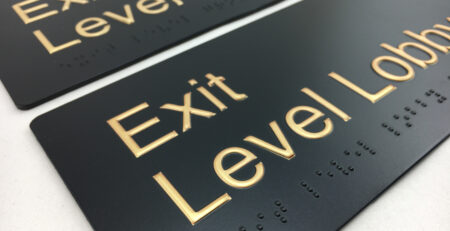 Brass Braille Signs - Exit Level