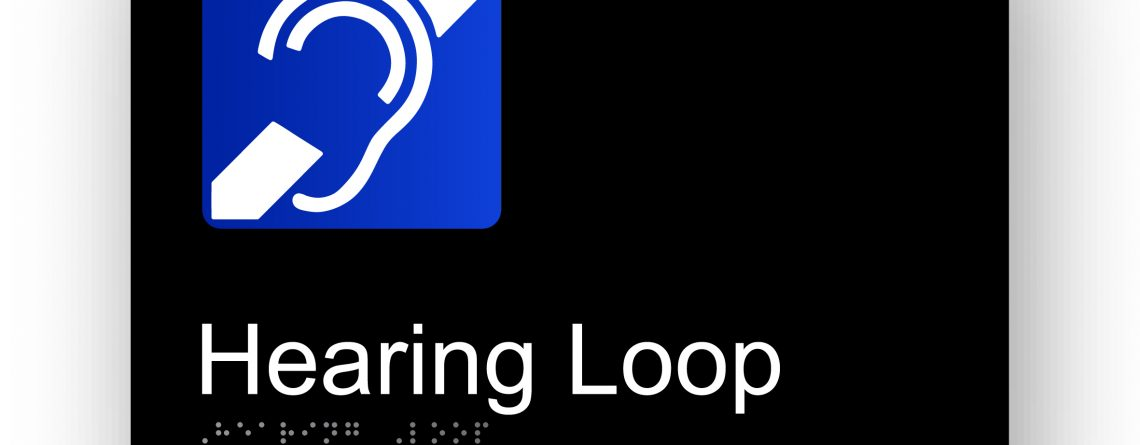 Hearing loop Braille Sign